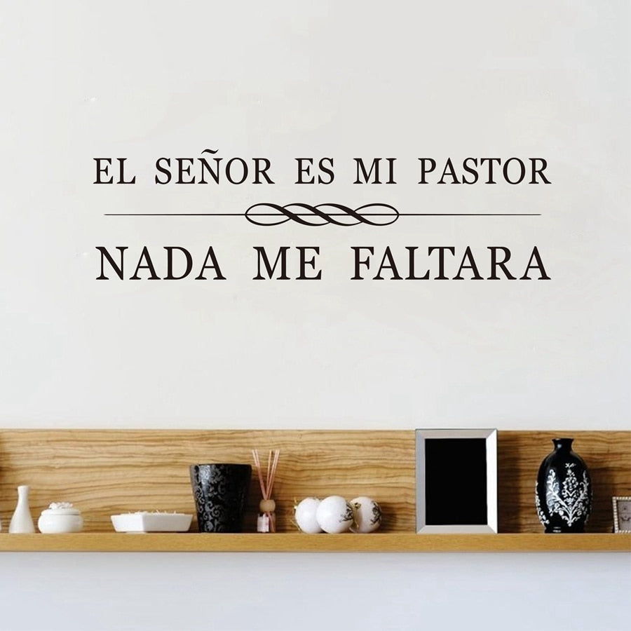 Spanish Christian Quote Vinyl Wall Art