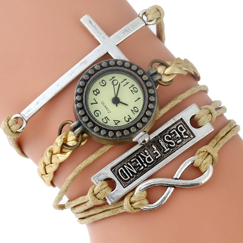 Best Friends Vintage-Style Bracelet Watch