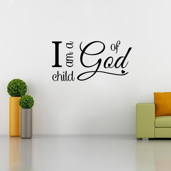 I Am a Child of God Wall Decor