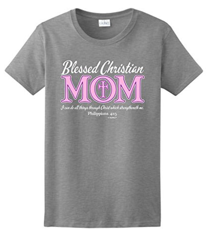Ladies' Blessed Christian Mom Short Sleeve Tee