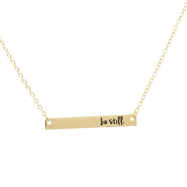 Be Still Pendant Necklace