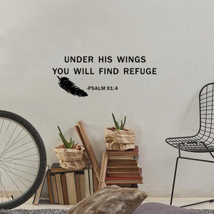 Find Refuge Scripture Wall Art Decor Psalm 91:4