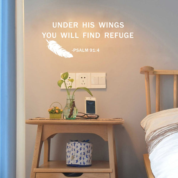 Find Refuge Scripture Wall Art Psalm 91:4