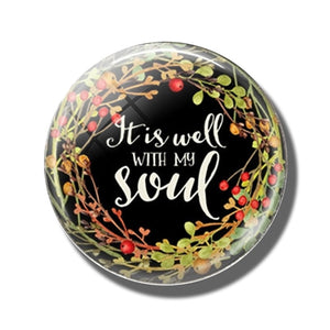 Inspirational Glass Refrigerator Magnets