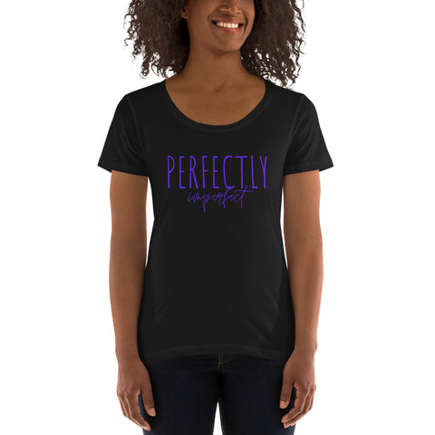 Perfectly Imperfect Ladies' Scoopneck T-Shirt