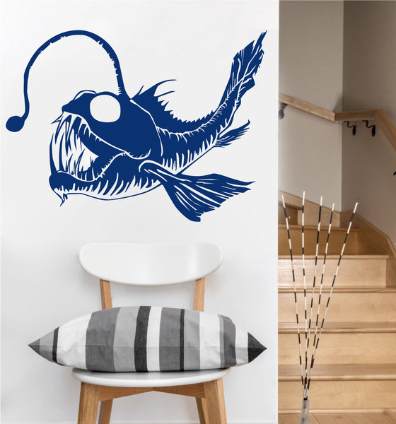Angler Fish Decal | Vinyl Wall Decal