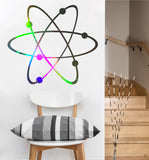 atom decal | science vinyl sticker | everywhere decals