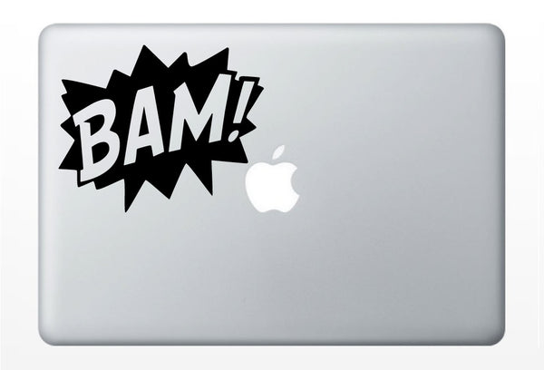 BAM COMIC laptop DECAL- macbook iPad computer- vinyl sticker
