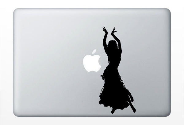 Belly Dancer laptop DECAL- macbook iPad computer- vinyl sticker