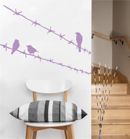 Birds on Barbed Wire Decal | Vinyl Wall Sticker