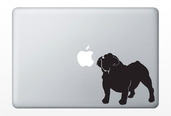 Bulldog DECAL laptop DECAL- macbook iPad computer- French dog, puppy - vinyl sticker