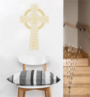 Celtic Cross Decal | Vinyl Wall Sticker