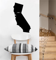 California is Home Decal | Vinyl Wall Sticker