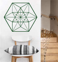 Cuboctahedron Decal | Sacred Geometry Vinyl Wall Sticker