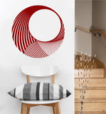 Circular Wave Decal | Vinyl Wall Sticker
