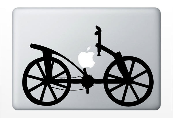 Da Vinci Bike invention laptop DECAL- macbook iPad computer- vinyl sticker- bicycle