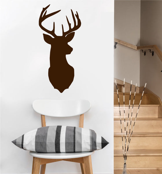 Mounted Deer Decal | Vinyl Wall Sticker