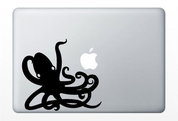 Octopus laptop DECAL- macbook PC computer - ocean water animal vinyl sticker