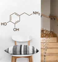 Dopamine Chemical Compound Decal | Wall Sticker