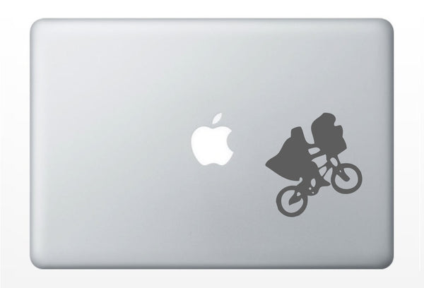 ET laptop DECAL- alien extraterrestrial macbook iPad computer- 80s cult classic - vinyl sticker