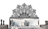 Elegant Headboard Wall DECAL- BED- interior design, tattoo, sticker art, room, home and business decor Twin Double Full Queen King