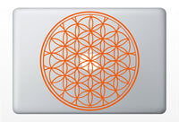 Flower of Life laptop DECAL- macbook iPad computer- vinyl sticker - Sacred Geometry - Rainbow Holographic