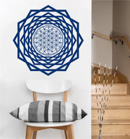 Flower of Life Tunnel Decal | Sacred Geometry Vinyl Sticker