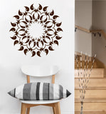 Fire Mandala Decal | Vinyl Wall Sticker Ring