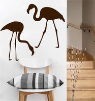 2 Flamingo Decals | Vinyl Wall Sticker