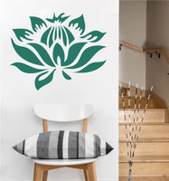 Floating Lotus Decal | Vinyl Wall Sticker