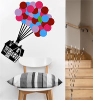 Floating House with Balloons Decal | Vinyl Wall Sticker