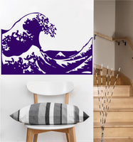 Kanagawa Wave Decal | Vinyl Wall Sticker