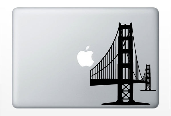 Golden Gate Bridge, San Francisco laptop DECAL- macbook iPad computer- vinyl sticker SF hippie