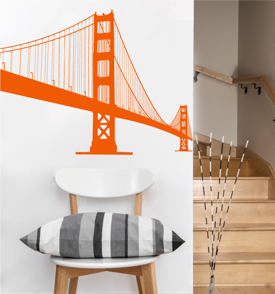 Golden Gate Bridge Decal | Vinyl Wall Sticker