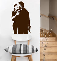 Gangster Couple Decal | Vinyl Wall Sticker