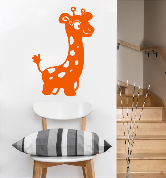 Baby Giraffe Decal | Vinyl Wall Sticker