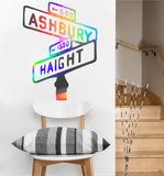 Haight Ashbury Street Sign Decal | Vinyl Wall Sticker