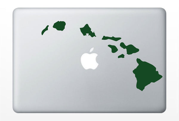 Hawaiian Islands state laptop DECAL- macbook iPad computer- Gadget Art / Accessory - aloha tropical Chic perfect gift