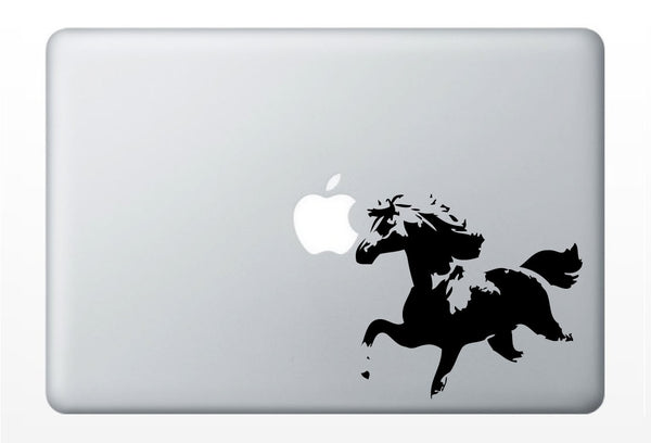 Horse laptop DECAL- macbook iPad computer- vinyl sticker