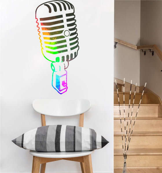 Jazz Mic Decal | Vinyl Wall Sticker