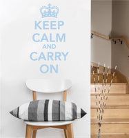 Keep Calm and Carry On Decal | Vinyl Wall Stickers
