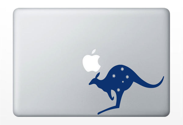 Australian Kangaroo DECAL- macbook PC iPad computer - animal vinyl sticker