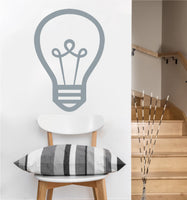Light Bulb Decal | Vinyl Wall Sicker