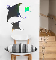 Manta Ray Decal | Vinyl Wall Sticker