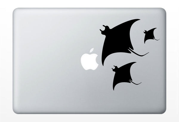 Manta Ray laptop DECAL- sting macbook iPad computer- vinyl sticker - ocean water stingray animal