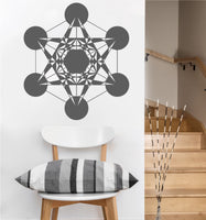 Metatron Cube Decal | Sacred Geometry Vinyl Wall Sticker