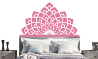 Modern Headboard Vinyl Wall DECAL- Twin Double Full Queen King BED- sticker art, room, home decor