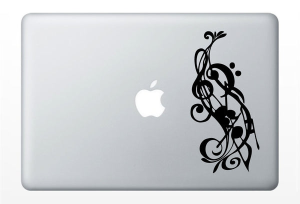 Music Notes laptop DECAL- macbook iPad computer- vinyl sticker