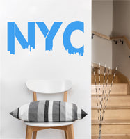 NYC Letters Decal | Vinyl Wall Sticker