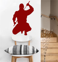 Ninja vinyl Wall DECAL- japan interior design, sticker art, room, home and business decor